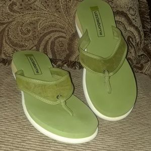 Green Flip Flop Thongs